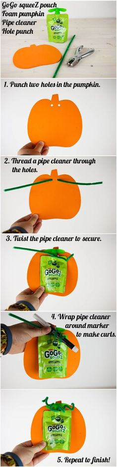 Heathy Preschool Snacks: GoGo squeeZ Pumpkins