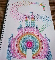 Disney castle mandala