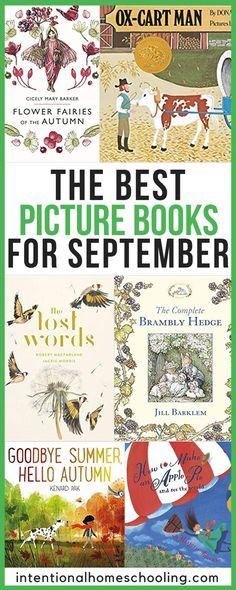 The Best Picture Books for Fall and September #fall #september #childrensbooks
