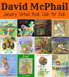 January Virtual Book Club for Kids- Featured author is David McPhail Come join us January 21st!
