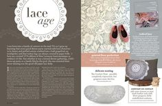 Royal Design Studio's Skylars Lace stencil featured in a New Zealand home magazine!