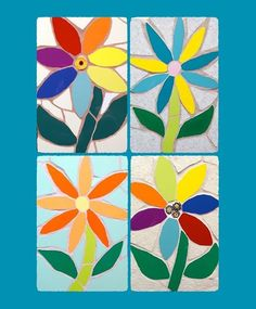 I will be making some #mosaic #flower #gems over the next few weeks - any colour combo 29 incl ukp&p  #arttobuy #mosaics #flowers