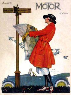 Motor - June 1921 - art by Ruth Eastman.
