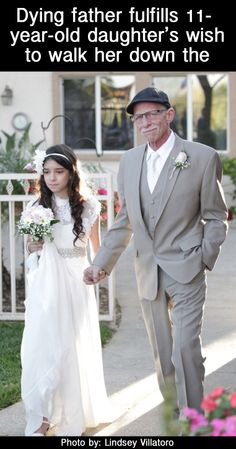 Oh my gosh, I can barely see through the tears to type this. This story will move you like nothing else ever! http://lifeasmama.com/why-is-this-father-walking-his-11-year-old-down-the-aisle-powerful/