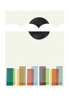 City Scape print by blancucha on Etsy, $30.00