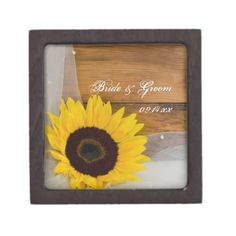 Sunflower and Veil Country Wedding Gift Box Premium Keepsake Box Wedding Keepsake Boxes, Wedding Gift Boxes, Wedding Keepsakes, Wedding Favors, Country Wedding Gifts, Custom Wedding Gifts, Farm Wedding, Wedding Bride, Yellow Sunflower