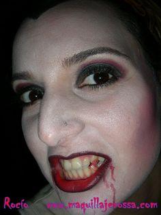 Maquillaje de Vampiresa Halloween 2015, paso a paso resultado final