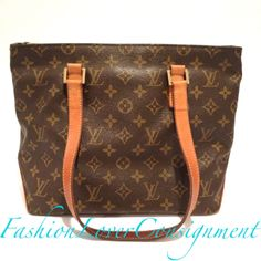 Fashion Lover Consignment - Louis Vuitton Monogram Canvas Cabas PM Tote, $550.00 (http://www.fashionloverconsignment.com/louis-vuitton-monogram-canvas-cabas-pm-tote/)