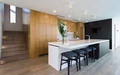 Caesarstone Quartz Colours for Kitchens & Bathrooms Engineered Stone, Kitchen Colors, Interior Design, Open Plan Kitchen, Cabinetry, Home, Interior, Kitchen Design, Kitchens Bathrooms