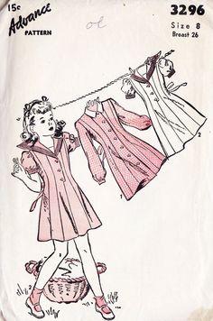 1940s Girls Dress Vintage