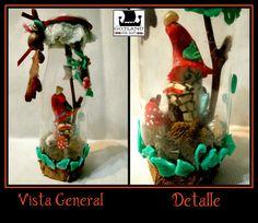 Casa de Hadas en una botella! Pequeñita pequeñita. Escultura mixed media modelada y con elementos naturales conservados.  - #fairy_gardens - #fairies -  #jardín_de_hadas #gnome_houses  - #casas_de_duendes