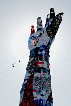 """""""hand of justice…a hand of worship"""" The symbol of a campaign to bring an end to human trafficking."""