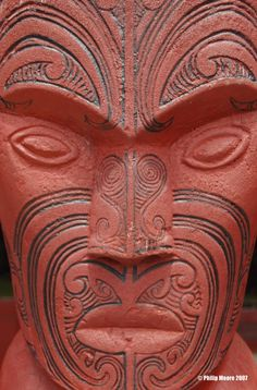 Carving from Te-Kuiti,North Island,New Zealand Maori Face Tattoo, North Island New Zealand, Maori Art, King And Country, Cool Countries, Tribal Art, First Nations, Back In The Day, Homeland