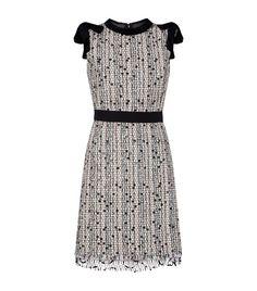 Giambattista Valli Tweed Embellished Mini Dress In Multi Black And White Short Dresses, Lace Dress Black, Pink Midi Dress, Tweed Dress, Lace Sheath Dress, Gowns Of Elegance, Faux Wrap Dress, Winter Dresses, Formal Dresses