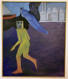"""Ahmed Morsi, """"Artist in Alexandria"""" (1989). Egyptian Surrealism and the Quest to Define Modern Art in Egypt"""