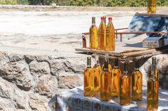 Bottles of Homemade Croatian Prosek (Dessert Wine)