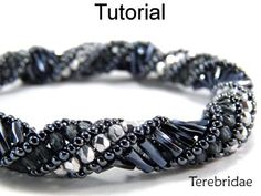 Russian Spiral Stitch Necklace Bracelet PDF Beading Pattern | Simple Bead Patterns