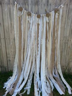 Burlap Lace Backdrop Burlap Wedding by LoveIndustrialLiving