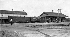 Northern Pacific depot at Clear Lake, Minnesota.
