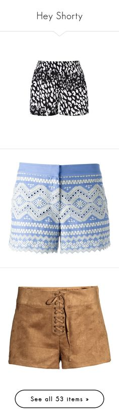 """""""Hey Shorty"""" by stacylynnwill ❤ liked on Polyvore featuring shorts, short, jeanshorts, summershorts, springshorts, bottoms, pants, scalloped shorts, tory burch and embroidered shorts"""