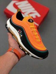 Nike Air Max 97 Premium 97 Black Orange Ck9399 001 Unisex Running
