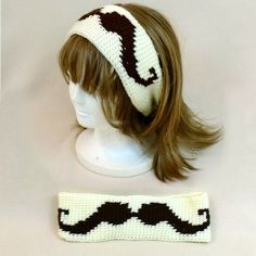 Hey, I found this really awesome Etsy listing at https://www.etsy.com/listing/129016357/brown-cream-mo-mustache-headband-hair