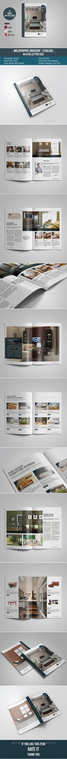 Catalogs \/ Brochure Brochures, Catalog and Brochure template - interior design brochure template