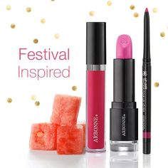 All of our Arbonne lipsticks, liners and glosses are designed to help the lips appear defined, plumped and moisturized. Capture the look of fun, festival beauty by combining our Camellia Smoothed Over Lipstick with the Fuschia Lip Liner and Cosmos Glossed Over Lip Gloss. It's the perfect combination for a sunny, Sunday afternoon look! www.rhonafitzpatrick.arbonne.com