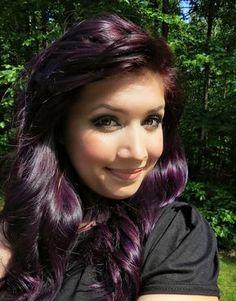 Cute Dark Purple Hair Color