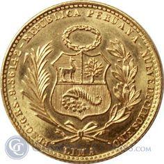 1959 Peru 20 Soles Gold Coin - thumbnail