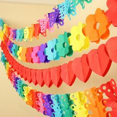 Flower Shaperd Paper Garland Party Tissue Paper Flower Garland DIY Wedding Birthday Ornaments Party Chirdren's Room Decor W