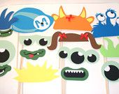 Monster Birthday Party Photo Props High Chair Banner Monsters Inc Hat Ponytails Monster Birthday Banner. $24.00, via Etsy.