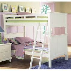 The Pottery Collection by Homelegance is perfect for that cottage look. Styled for your child this bunk bed features an old-world charm finished in White Sand with beautifully designed paneling. This bed can be separated into two beds by using the taller pieces as headboards and the shorter...