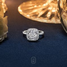 With sparkling micropavé framing a 3.55-carat cushion-cut diamond, The One Engagement Ring captures the enduring elegance of the world's finest stones. #HarryWinston #BrilliantlyInLove