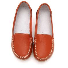 9bd966f6245 Hot-sale Casual Soft Sole Pure Color Slip On Flat Shoes Loafers - NewChic