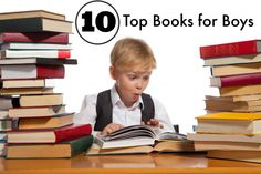 The Boys Top 10 Books- for average age 6-8. Books chosen by boys and loved for years.