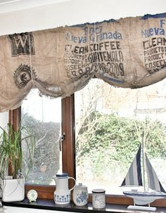 By Hester: HHH Coffee bean bag curtains