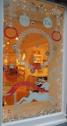 whimsical Hand drawn by Gill - 2012 Christmas Window