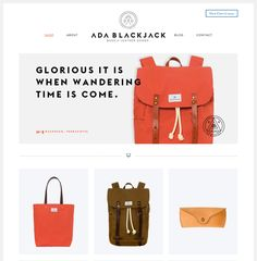 Liking the simplicity and colour palette of this online store - Ada Blackjack Shop - Inspirational Shops