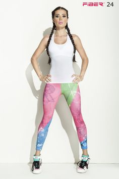 Colorful Leggings - 024 Check out these cool new leggings with a super colorful print. Made from extremely supportive material that gives a firming effect and makes the booty pop! The Brazilian version of SPANX! Approximate inseam for sizing is 24″ One size fits most in a S-M range