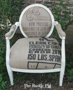 The Rustic Pig: A French Coffee Sack Chair