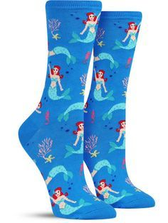 Happy Mermaid Socks from The Sock Drawer