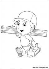 handy manny coloring pages - Handy Manny Colouring Pages