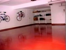 Concrete And Garage Floor Paint - wow, way to add color to an otherwise drab space