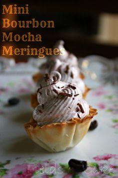 Mini Bourbon Mocha Meringues! OMG SO good!!  via fieldsofcake