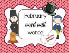 Enjoy this Freebie to add to your Word walls!   39 Word Wall words with pictures that go with the month of February!!  Please leave feedback! and come back to my store!! :)  How to get TPT credit to use on future purchases:  • Log in.  Go to your My Purchases page.