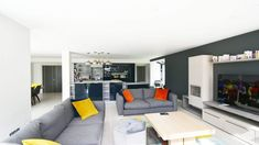 This contemporary new family home in South Mayo is a Project recently completed by Simon Beale + Associates. We led the clients from the initial design and planning consultation, to on site supervi… Modern Contemporary Homes, Modern Decor, House Designs Ireland, Ireland Homes, New House Plans, Building A House, Home And Family, New Homes, Interior Design