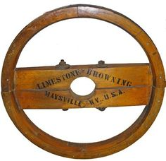 Vintage,LIMESTONE-BROWNING  INDUSTRIAL FOUNDRY MOLD WHEEL,Maysville,KY
