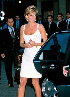 Princess Diana at a charity concert in Modena, Italy, 1995.