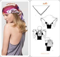 #Howto wear your Hermes scarf!
